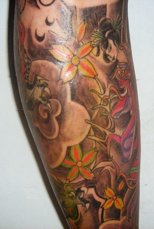 Tatuagens Gueixa E Flor De Lotus No Braço últimas Flores